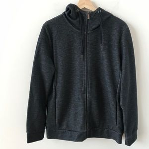 Strellson navy blue and charcoal zip up hoodie